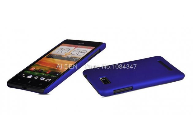 Фирменная задняя панель-крышка-накладка из тончайшего и прочного пластика на HTC Desire 400 Dual Sim синяя
