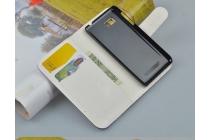 """Фирменный уникальный необычный чехол-книжка для HTC Desire 400 """"тематика Англия"""""""