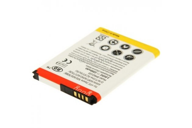Усиленная батарея-аккумулятор большой повышенной ёмкости 2200 mAh для телефона HTC Desire 400 / Desire 400 Dual Sim+ гарантия
