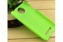 Фирменная задняя панель-крышка-накладка из тончайшего и прочного пластика для HTC Desire 501 Dual Sim зеленая