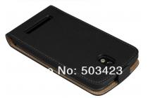 Фирменный вертикальный откидной чехол-флип для HTC Desire 501 Dual Sim черный кожаный