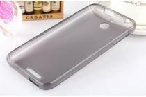 Фирменная ультра-тонкая полимерная из мягкого качественного силикона задняя панель-чехол-накладка для HTC Desire 510 серая