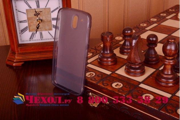 Фирменная ультра-тонкая полимерная из мягкого качественного силикона задняя панель-чехол-накладка для HTC Desire 526/ 526 Dual Sim/ 526 G+ черный