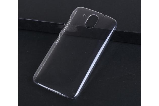Фирменная задняя панель-крышка-накладка из тончайшего и прочного пластика для HTC Desire 526/ 526 Dual Sim/ 526 G+  прозрачная