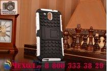 Противоударный усиленный ударопрочный фирменный чехол-бампер-пенал для HTC Desire 526/ 526 Dual Sim/ 526 G+ белый