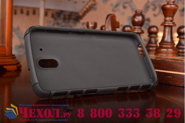 Противоударный усиленный ударопрочный фирменный чехол-бампер-пенал для HTC Desire 526/ 526 Dual Sim/ 526 G+ черный