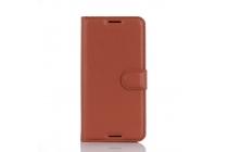 """Фирменный чехол-книжка из качественной импортной кожи с мульти-подставкой застёжкой и визитницей для HTC Desire 530 Dual SIm ( LTE 4G / 530U / EEA) 5.0"""" коричневый"""