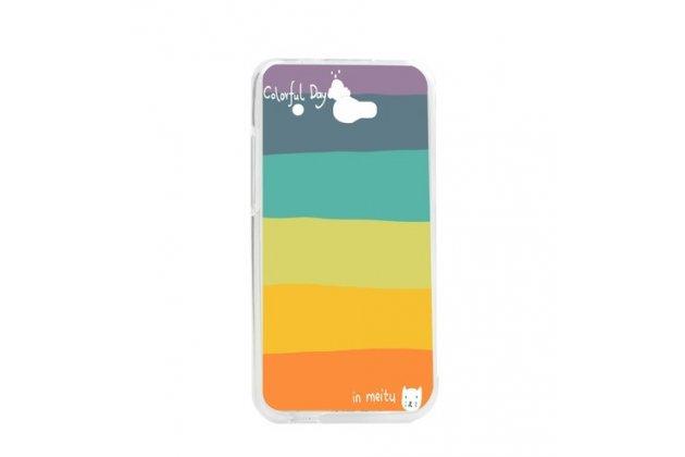 """Фирменная необычная уникальная из легчайшего и тончайшего пластика задняя панель-чехол-накладка для HTC Desire 601 Dual Sim """"тематика Все цвета Радуги"""""""