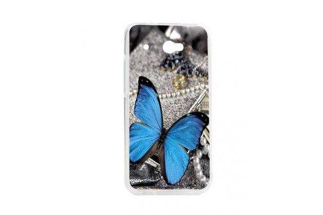 """Фирменная необычная уникальная пластиковая задняя панель-чехол-накладка для HTC Desire 601 Dual Sim """"тематика Бабочка"""""""