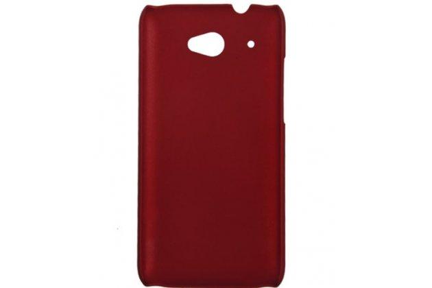 Фирменная задняя панель-крышка-накладка из тончайшего и прочного пластика для HTC Desire 601 Dual Sim красная