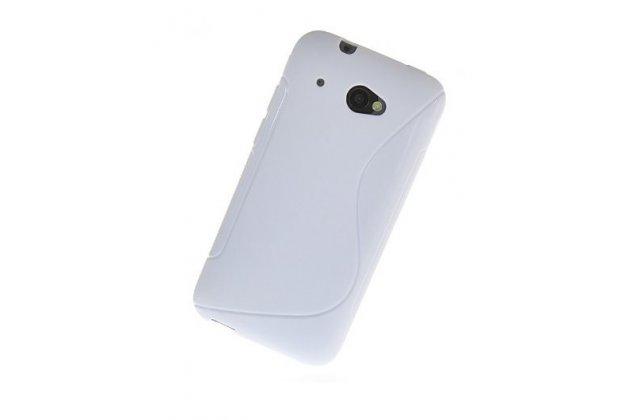 Фирменная ультра-тонкая полимерная из мягкого качественного силикона задняя панель-чехол-накладка для HTC Desire 601 Dual Sim белая