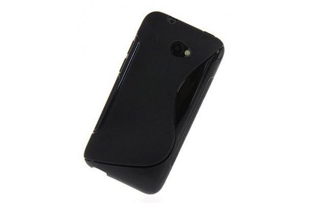 Фирменная ультра-тонкая пластиковая задняя панель-чехол-накладка для HTC Desire 601 Dual Sim черная