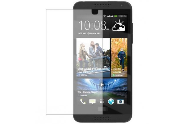 Фирменная оригинальная защитная пленка для телефона HTC Desire 610 глянцевая