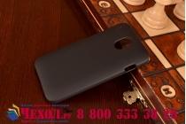 Фирменная задняя панель-крышка-накладка из тончайшего и прочного пластика на HTC Desire 210 черная