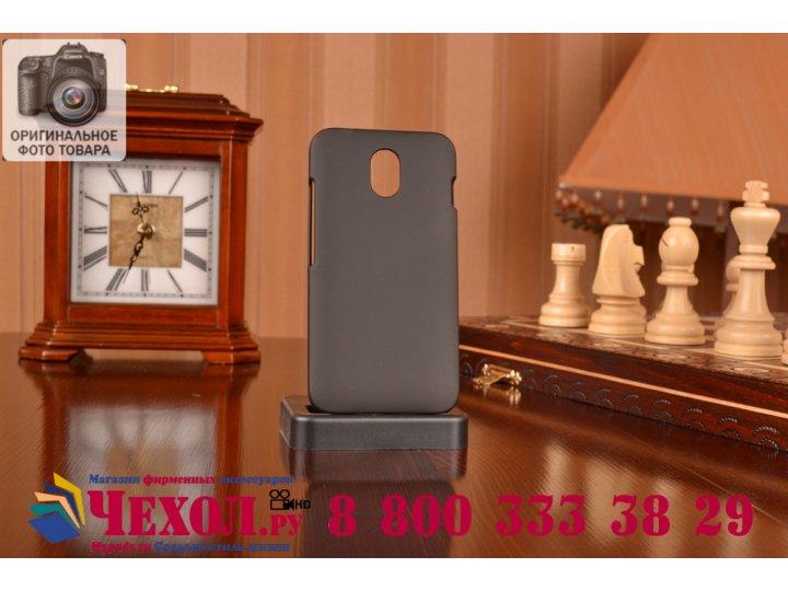 Фирменная задняя панель-крышка-накладка из тончайшего и прочного пластика на HTC Desire 210 черная..
