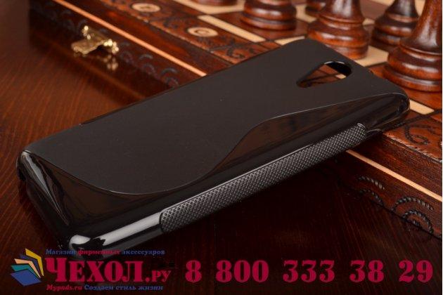 Фирменная ультра-тонкая полимерная из мягкого качественного силикона задняя панель-чехол-накладка для HTC Desire 620G Dual Sim черная