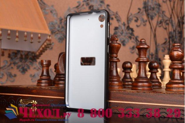 Фирменная металлическая задняя панель-крышка-накладка из тончайшего облегченного авиационного алюминия для HTC Desire 626 /626 G+ Dual Sim черная