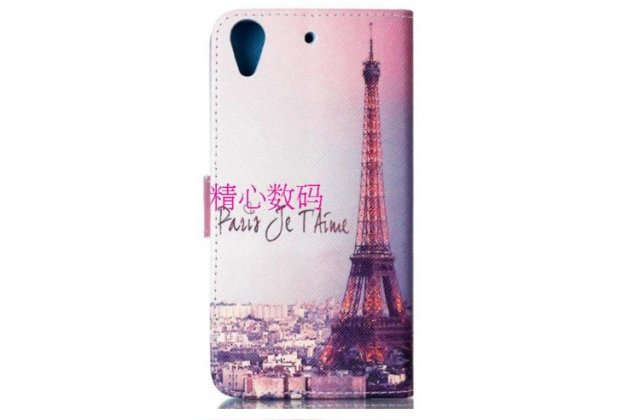 """Фирменный уникальный необычный чехол-книжка для HTC Desire 626 /626 G+ Dual Sim """"тематика Франция"""""""