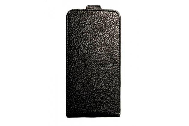 """Фирменный вертикальный откидной ультра-тонкий чехол-флип для HTC Desire 628 Dual Sim 5.0"""" черный"""