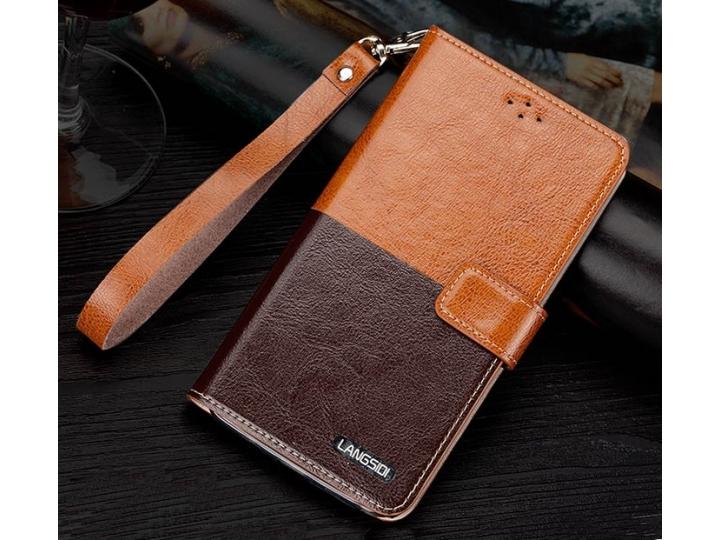 Фирменный чехол-книжка из качественной импортной кожи с подставкой и визитницей для HTC Desire 530 / Desire 63..