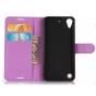 Фирменный чехол-книжка из качественной импортной кожи с подставкой застёжкой и визитницей для HTC Desire 530 /..