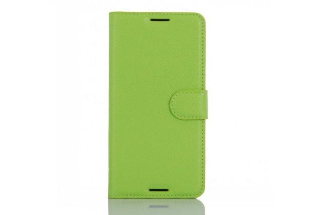 """Фирменный чехол-книжка из качественной импортной кожи с подставкой застёжкой и визитницей для HTC Desire 530 / Desire 630 Dual SIm ( LTE 4G / 530U / EEA) 5.0"""" зеленый"""