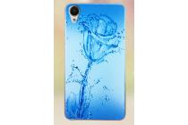Фирменная необычная из силикона задняя панель-чехол-накладка для HTC Desire 650 тематика Цветок
