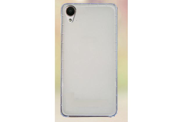 Фирменная ультра-тонкая полимерная из мягкого качественного силикона задняя панель-чехол-накладка для HTC Desire 650 белая