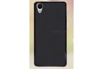 Фирменная ультра-тонкая полимерная из мягкого качественного силикона задняя панель-чехол-накладка для HTC Desire 650 черная