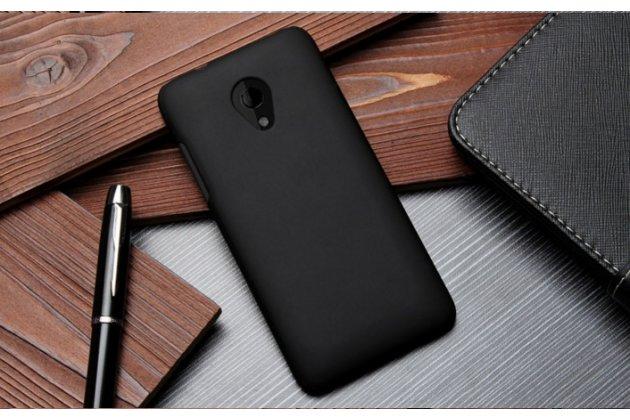 Фирменная задняя панель-крышка-накладка из тончайшего и прочного пластика для HTC Desire 700 Dual Sim черная