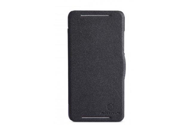 Фирменный оригинальный чехол-книжка для HTC Desire 700 Dual Sim черный кожаный