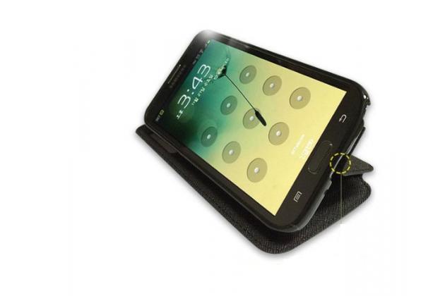 """Фирменный оригинальный чехол-книжка для HTC Desire 728/ 728G Dual Sim""""  черный с окошком для входящих вызовов водоотталкивающий"""