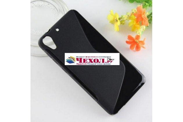 Фирменная ультра-тонкая полимерная из мягкого качественного силикона задняя панель-чехол-накладка для HTC Desire 728 черная