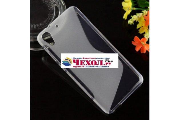 Фирменная ультра-тонкая полимерная из мягкого качественного силикона задняя панель-чехол-накладка для HTC Desire 728 серая