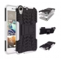 Противоударный усиленный ударопрочный фирменный чехол-бампер-пенал для HTC Desire 728/ 728G Dual Sim белый..