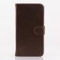 Фирменный чехол-книжка из качественной импортной кожи с подставкой застёжкой и визитницей для HTC Desire 816 D..