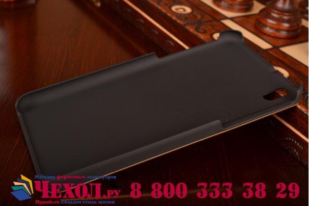 Фирменная металлическая задняя панель-крышка-накладка из тончайшего облегченного авиационного алюминия для HTC Desire 816 Dual Sim золотая