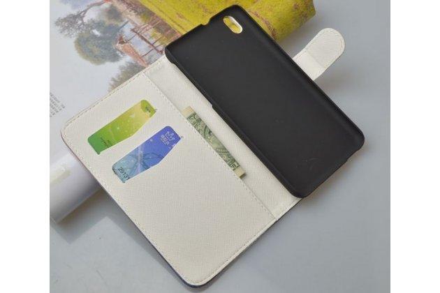 """Фирменный уникальный необычный чехол-книжка на HTC Desire 816 Dual Sim  """"тематика цветы"""""""