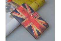 """Фирменный уникальный необычный чехол-книжка для HTC Desire 816 Dual Sim """"тематика британский флаг"""""""