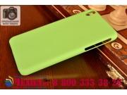 Фирменная задняя панель-крышка-накладка из тончайшего и прочного пластика для HTC Desire 816 Dual Sim зеленая..