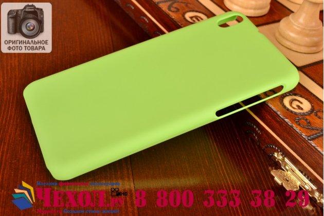 Фирменная задняя панель-крышка-накладка из тончайшего и прочного пластика для HTC Desire 816 Dual Sim зеленая