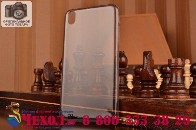 Фирменная ультра-тонкая полимерная из мягкого качественного силикона задняя панель-чехол-накладка для HTC Desire 816 Dual Sim черная