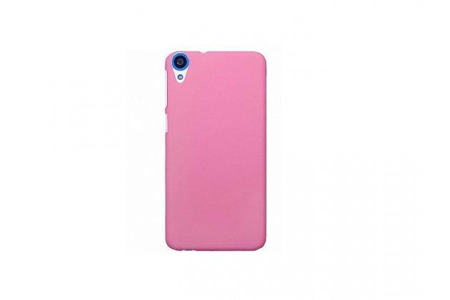 Фирменная задняя панель-крышка-накладка из тончайшего и прочного пластика для HTC Desire 820 dual sim розовая