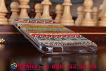 """Фирменная необычная уникальная из ультра-тонкого силикона задняя панель-чехол-накладка для HTC Desire 820 dual sim """"тематика Эклектические узоры"""""""