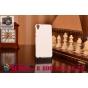 Фирменная задняя панель-крышка-накладка из тончайшего и прочного пластика для HTC Desire 820 dual sim белая..
