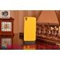 Фирменная задняя панель-крышка-накладка из тончайшего и прочного пластика для HTC Desire 820 dual sim желтая..