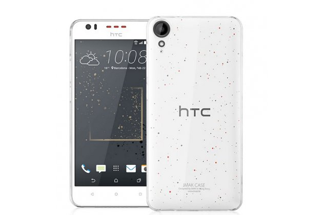 """Фирменная задняя панель-крышка-накладка из тончайшего и прочного пластика для HTC Desire 825 Dual Sim 5.5"""" прозрачная"""