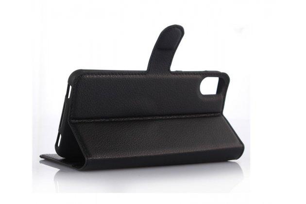 """Фирменный чехол-книжка из качественной импортной кожи с подставкой застёжкой и визитницей для HTC Desire 825 Dual Sim 5.5"""" белый"""