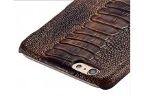 """Фирменная элегантная экзотическая задняя панель-крышка с фактурной отделкой натуральной кожи кофейного цвета для for HTC Desire 825 Dual Sim 5.5"""" . Только в нашем магазине. Количество ограничено"""
