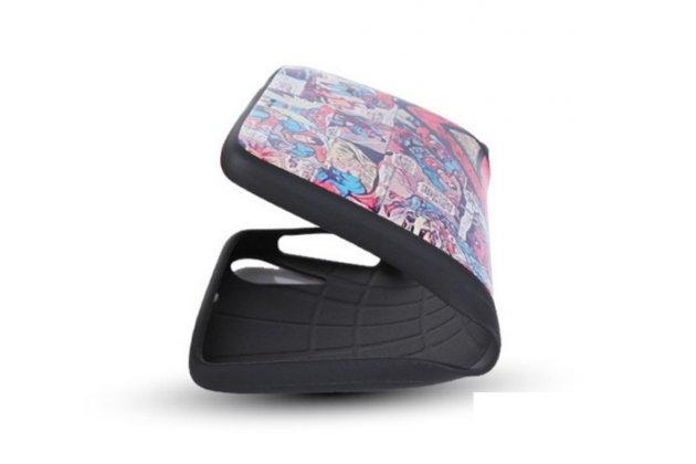 """Фирменная роскошная задняя панель-чехол-накладка из мягкого силикона с объемным  3D изображением на HTC Desire 825 Dual Sim 5.5"""" с безумно красивым рисунком  """"Тематика Яркая Мозайка"""""""